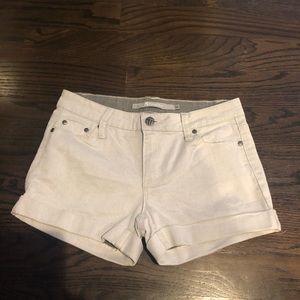 Girls silver denim shorts size 14